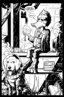 Howard and Cosmo by KR-Whalen