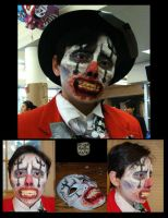 Jib the Hobo Clown Makeup by SilverDrgnbane