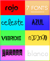 +7 Fonts by iMissMovinOn
