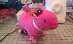 Pink Speckle Bunny by SPPlushies