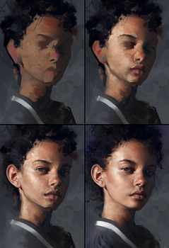 Marina Nery Study - Process by AaronGriffinArt