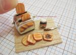 Miniature Nutella and Toaster Set by ilovelittlethings