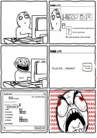 RaGe CoMiCs - Facebook Question Rage by dra0gon1