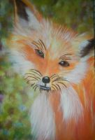 Fox Painting by writerwithoutapencil