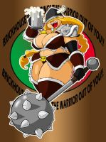 Victoria  Beer Warrior Label by ShoNuff44