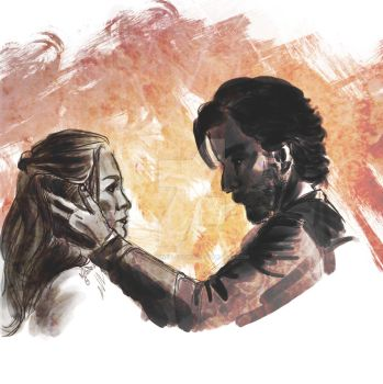kabby // the 100 // marcus kane and abby griffin by miss-ninja-cookie
