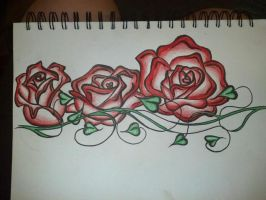 Roses (tattoo start) by BladesTillDawn