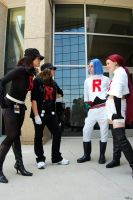 Team Rocket vs Team Rocket by saraaamarie