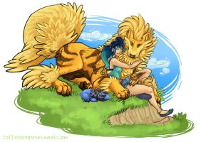 Arcanine Trainer by theCoffeeDragon
