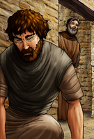 Saul and Ananias by eikonik