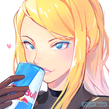 COMM: Zero Suit Samus with Redbull by ToasterKiwi