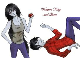 AT: Vampire King and Queen Colored by xviolette16
