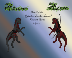 Azuro and Azero: The Brothers by DragonThunderstorm