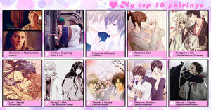 My top 10 Pairings by xfp7x