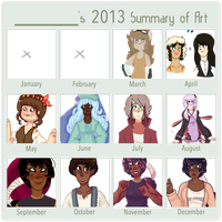 2013 Summary Of Art by square-root