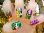 Beauty And The Beast Nails by jeealee