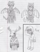 Recent Sketches (Mainly Some Demons) by Drick96