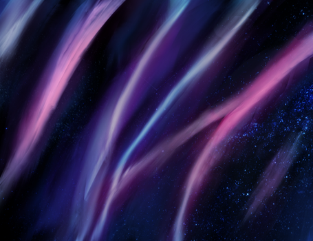 Aurora Borealis Digital Painting by Pennywithaney