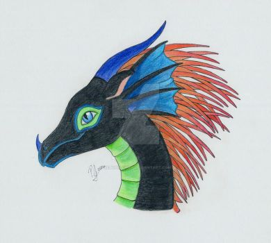 Dubstep Dragon - Colored Profile by Reborn-Chan