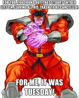 M Bison Tuesday: Stuart Snyder by lightyearpig