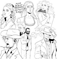 Westworld sketchdump by LakiDaisical