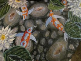 Koi Pond on Stone by AmandaFerguson070707