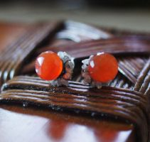 Carnelian rough Diamond by CrysallisCreations