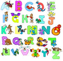complete pokemon alphabet by hazel-blackthorn