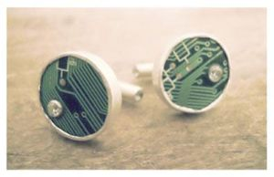 Motherboard Cufflinks by tejadesigns