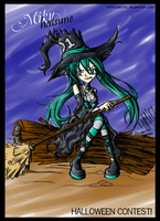Miku Halloween COLOR by AelitaC