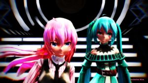 [MMD] Greatest Rival Ever. (Miku and Luka) by CrazyImmor