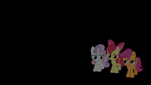 Cutie Mark Crusaders Glowing Cutie Mark Wallpaper by alexram1313