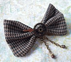 SOLD: Steampunk Hair Bow/Bow Tie by random-wish