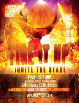 Fire It Up Flyer PSD by stevisimo