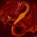 Red dragon by thebluekraken