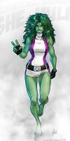 Sensational! Savage! SHE-HULK! by croaky