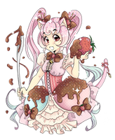 Ice Cream Kitten by FumiMoto
