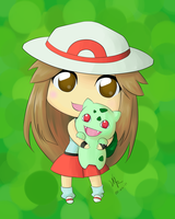 Chibi LeafGreen Female Trainer by NoriegaGraphics