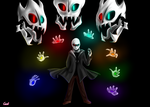 Gaster from Glitchtale! by CamilaAnims