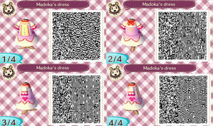 Madoka QR Animal Crossing design by Decapitated-Kittens