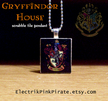 Gryffindor scrabble pendant by ElectrikPinkPirate