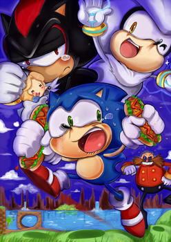 3 lil Hedgehogs and The Big Bad Doctor by missyuna