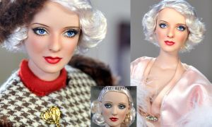 Doll Repaint -  Bette Davis by noeling