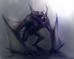 Skyrim Mod Project: Creatues _Bat Monster by Daz18