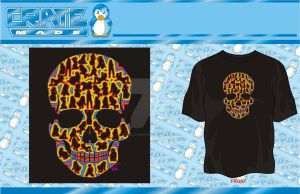 Sexy Bones Skull Color t-shirt by godzillasmash