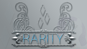 Wallpaper : Rarity - Designed Logo by pims1978