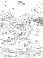 Middle Earth Map by GuardianOfNightmares