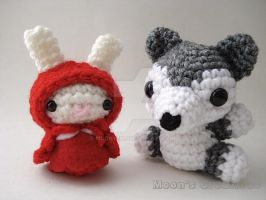 Little Red Riding Hood Moon Bun and Big Bad Wolf by MoonYen