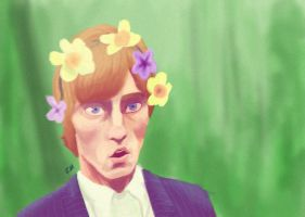 Roger With Flowers by greengal14