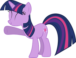 Minimal Twilight Sparkle Vector (with fills) by uxyd